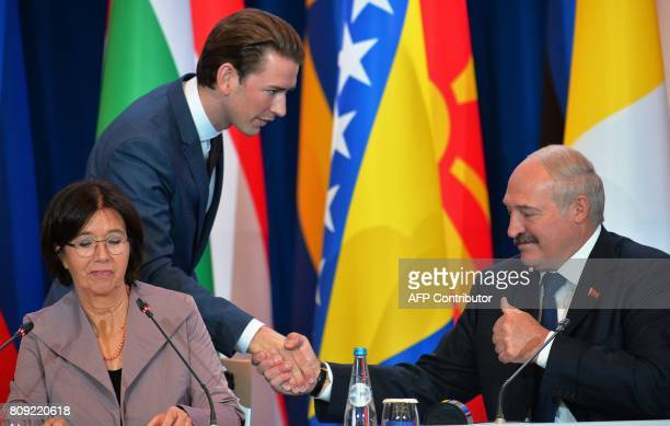 Organization for Security and Cooperation in Europe Parliamentary Assembly President Christine Muttonen Belarus' President Alexander Lukashenko and...