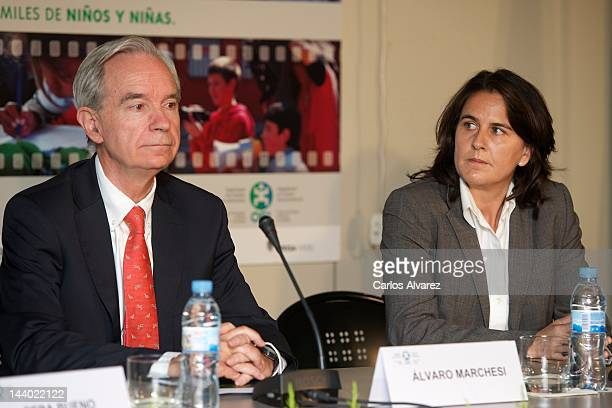 Organization of IberoAmerican States Secretary General Alvaro Marchesi and Spanish former tennis player Conchita Martinez present 'Luces Para...