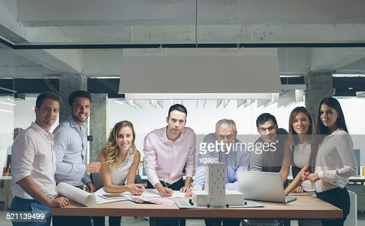 Organized Group Photo in the office.