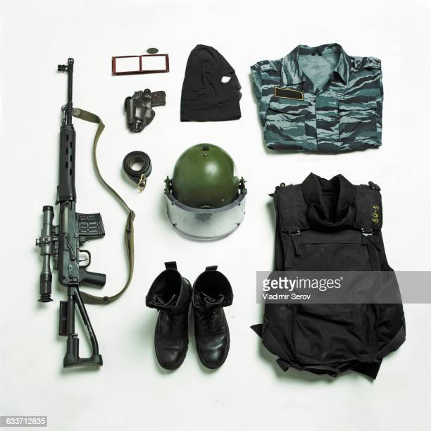 Organized military uniform and equipment