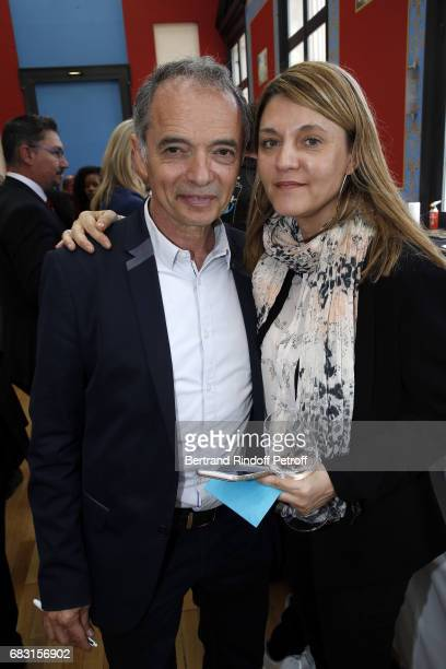 Organizer of 'Journees Nationales du Livres et du Vin a Saumur' JeanMaurice Belayche and his wife Corinne attend Tribute To JeanClaude Brialy during...