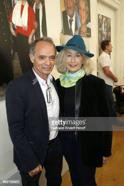 Organizer of 'Journees Nationales du Livres et du Vin a Saumur' JeanMaurice Belayche and Actress Brigitte Fossey attend Tribute To JeanClaude Brialy...