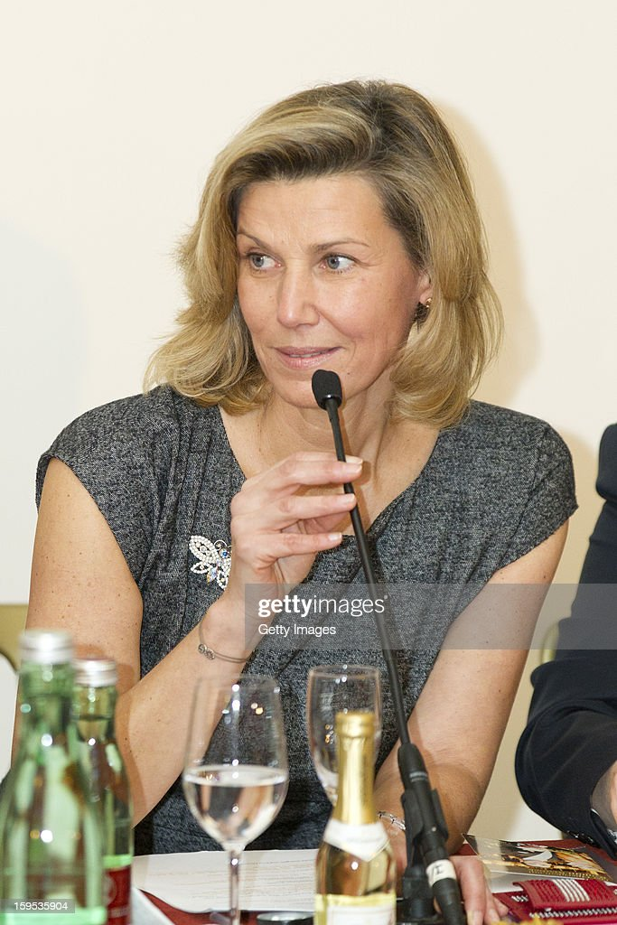 Organizer of the Opera Ball Desiree Treichl-Sturgkh speaks during the press conference ahead of Vienna Opera Ball on January 15, 2013 in Vienna, Austria.
