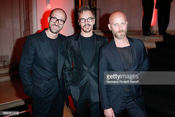 Organizers of Club Sandwich party Emmanuel d'Orazio Stephane Lucas and Marc Zaffuto attend the Cocktail for 50 years of beauty and discovery of new...