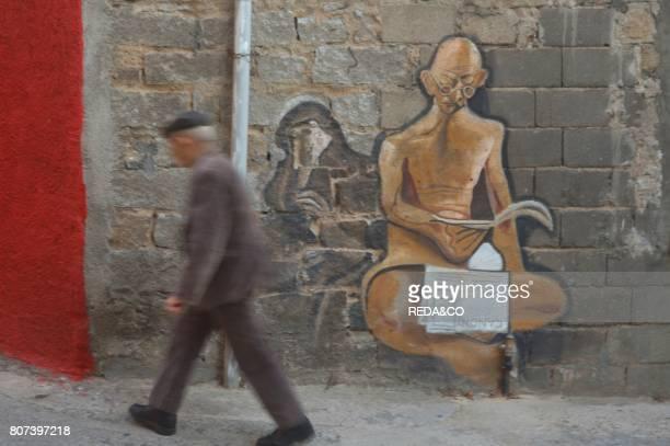 Orgosolo village murales Barbagia Sardinia Italy Europe
