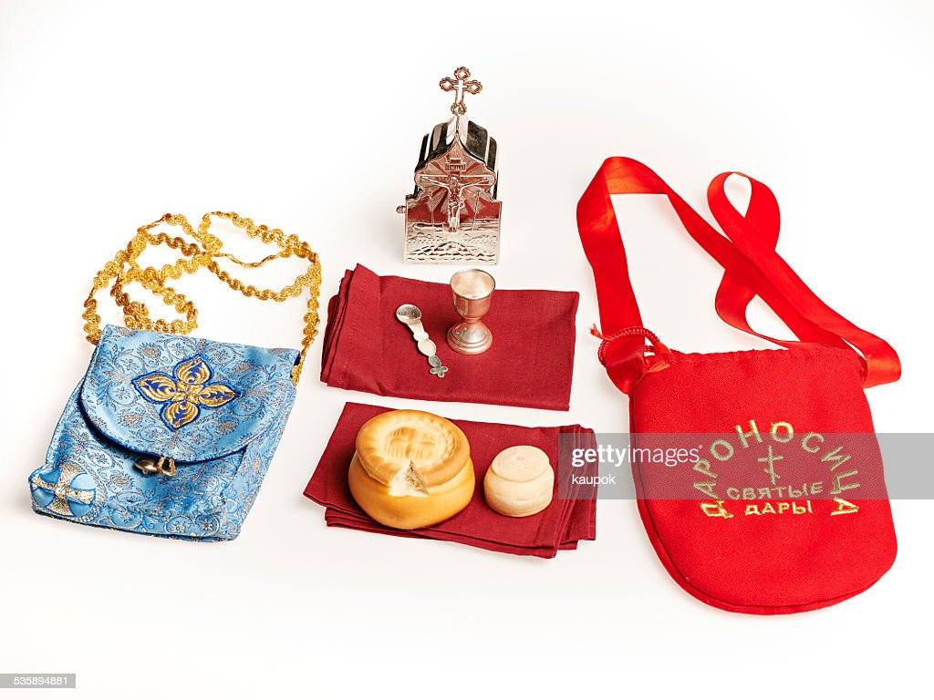 Orhodox Holy Communion equipement : Stock Photo