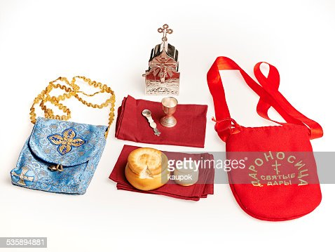 Orhodox Holy Communion equipement : Stockfoto