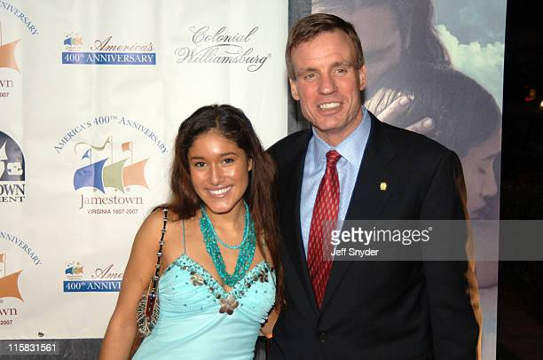 Q'oriana Kilcher and Virginia Governor Mark Warner