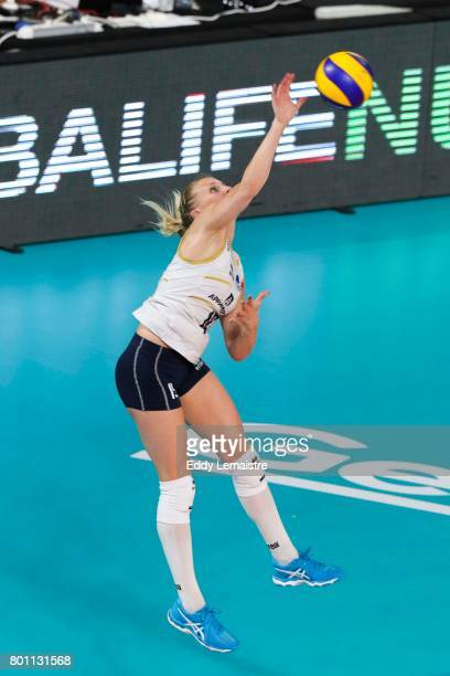Oriane Amalric of France during the Women's European league match between France and Montenegro on June 24 2017 in Nantes France