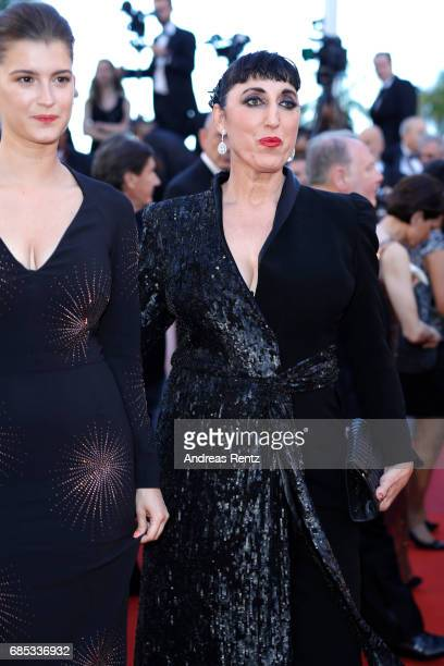 Oriane Deschamps and Rossy de Palma attend the 'Okja' screening during the 70th annual Cannes Film Festival at Palais des Festivals on May 19 2017 in...