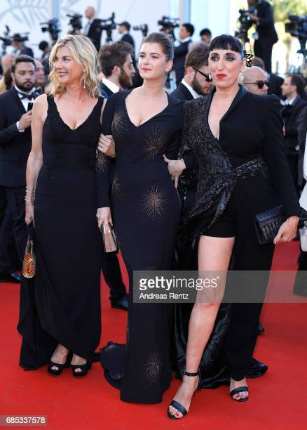 Oriane Deschamps Michele Laroque and Rossy de Palma attend the 'Okja' screening during the 70th annual Cannes Film Festival at Palais des Festivals...
