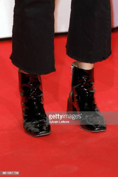 Oriane Deschamps shoe detail attends opening ceremony of 9th Film Festival Lumiere In Lyon on October 14 2017 in Lyon France