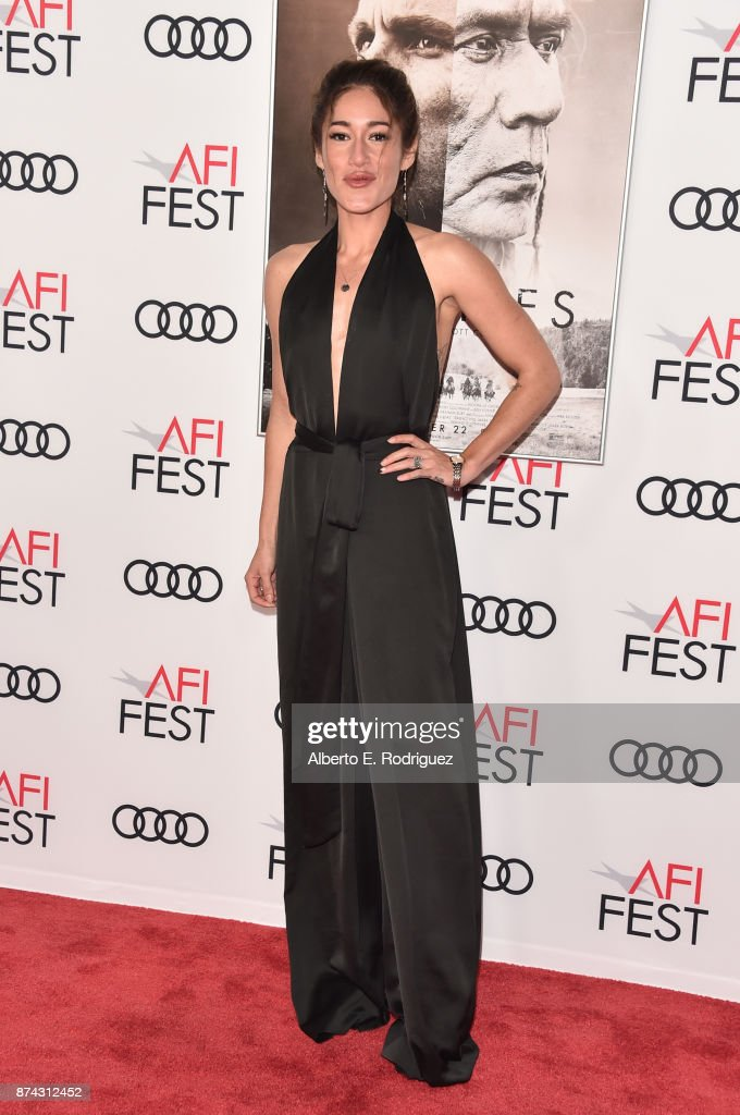 Q'orianka Kilcher attends the screening of 'Hostiles' at AFI FEST 2017 Presented By Audi at TCL Chinese Theatre on November 14, 2017 in Hollywood, California.
