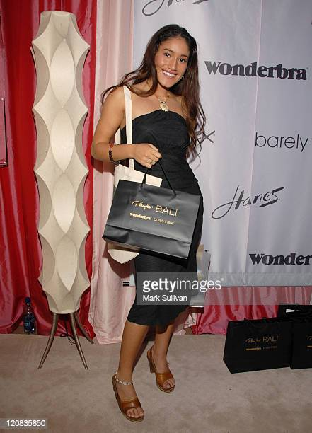 Q'orianka Kilcher during Wonderbra at the Silver Spoon Beauty Buffet Day Two in Beverly Hills California United States