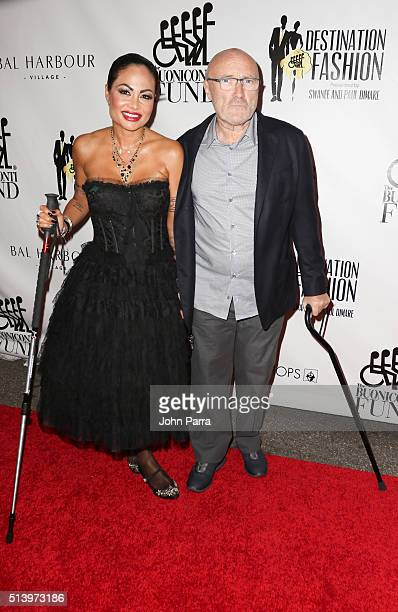 Orianne Cevey and Phil Collins attend Destination Fashion 2016 to benefit The Buoniconti Fund to Cure Paralysis the fundraising arm of The Miami...