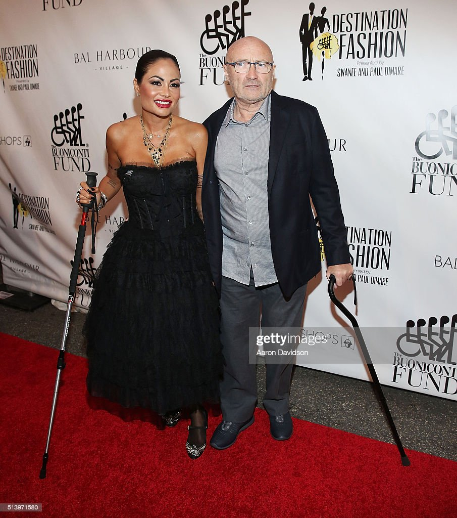 Orianne Cevey and Phil Collins attends Destination Fashion 2016 to benefit The Buoniconti Fund to Cure Paralysis, the fundraising arm of The Miami Project to Cure Paralysis at Bal Harbour Shops on March 5, 2016 in Miami, Florida.