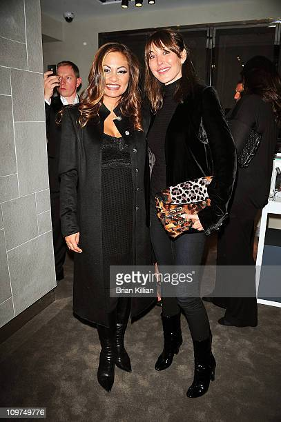 Orianne Collins and Tamara Mellon Founder an CCO of Jimmy Choo attend the opening of the OC Concept Store at OC Concept Store on October 14 2010 in...