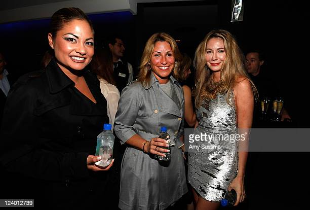 Orianne Collins Donna Simonelli and Julie Moore attend the outnetcom sponsored premiere of God Save My Shoes at Paris Theatre on September 7 2011 in...