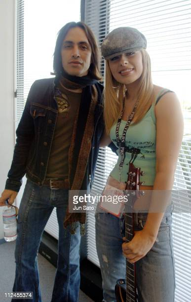 Orianthi and Nuno Bettencourt backstage during Orianthi Performs Live at the 2005 Musical Instruments Fair in Japan November 6 2005 at Pacifico...