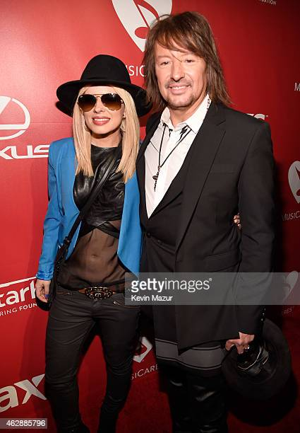 Orianthi and Richie Sambora attend the 25th anniversary MusiCares 2015 Person Of The Year Gala honoring Bob Dylan at the Los Angeles Convention...