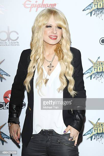 Orianthi arrives at the 6th Annual Revolver Golden Gods Award Show held at Club Nokia on April 23 2014 in Los Angeles California