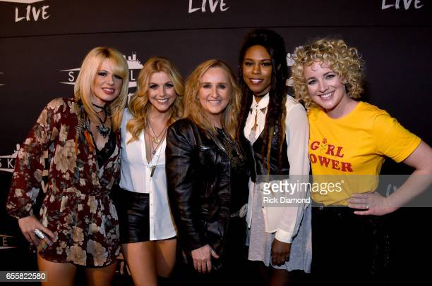 Orianthi Lindsay Ell Melissa Etheridge Troi Irons and Cam attend a special Woman's March Show at Skyville Live on March 20 2017 in Nashville Tennessee