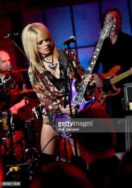 Orianthi performs onstage during a special Woman's March Show at Skyville Live on March 20 2017 in Nashville Tennessee