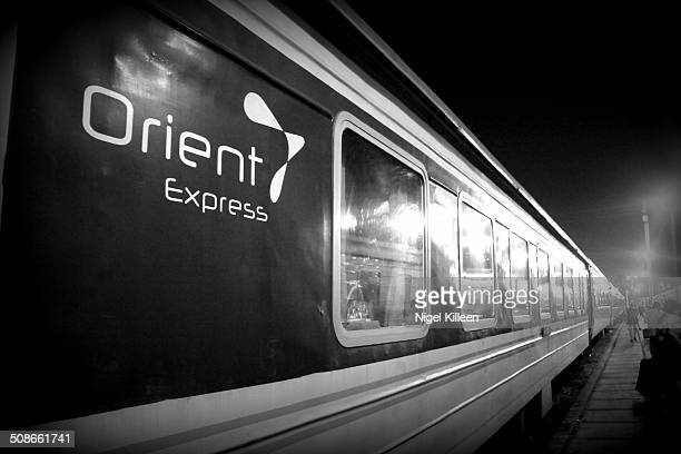 Orient Express Vietnamese train that operates from Hanoi to Sapa Northern Vietnam Pictured here in Hanoi train station Vietnam