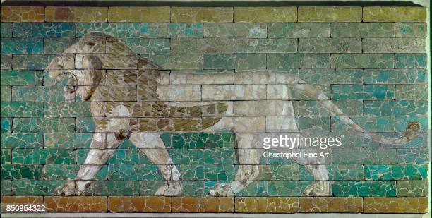Passing Lion NeoBabylonian period reign of Nebuchadnezzar II Paris Louvre Museum