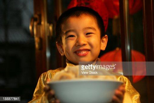 Oriental Child,Festival : Stock Photo