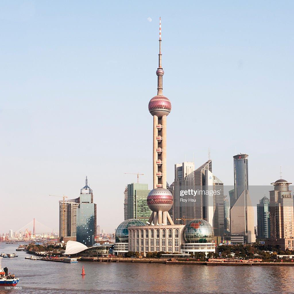 Oriental Pearl Tower in Shanghai : Stock Photo