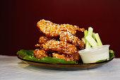 Oriental sesame chicken tenders from East Side Wings in Watertown Saturday November 27 2010