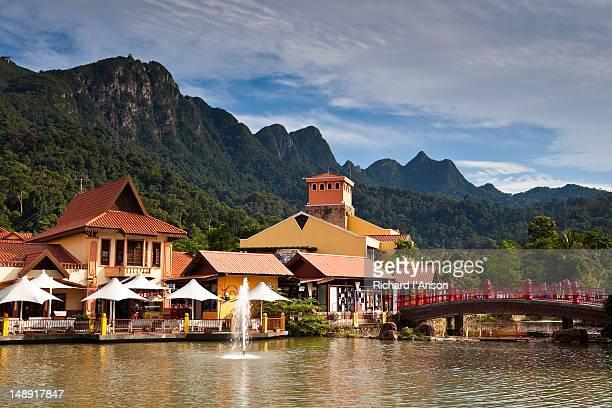 Oriental Village shopping centre and Gunung Machinchang, Pantai Kok.