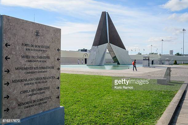 Orientation board to the Overseas Combatants Monumentr in Belem Portugal