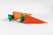 Two of Origami Carrot