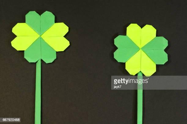 Origami Clover Flower