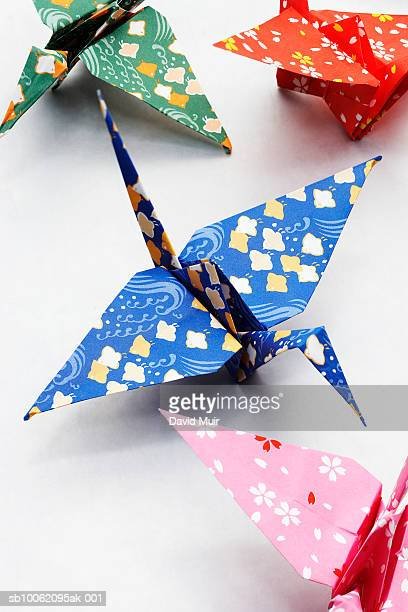 Origami cranes, close-up