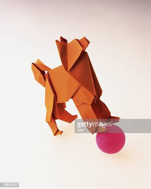 Origami Dog, High Angle View