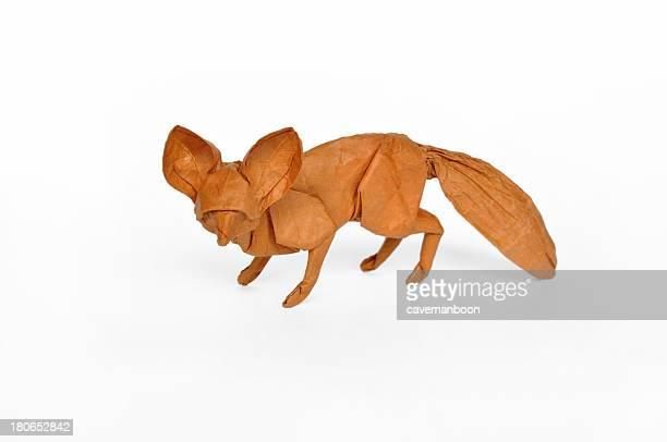 Origami fennec fox
