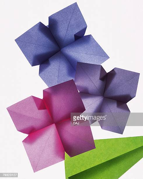 Origami Flowers, Hydrangea, High Angle View