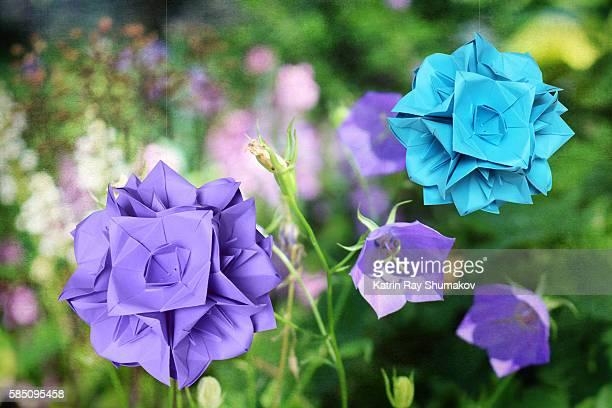 Origami Kusudama Garden. Bellflowers Balls
