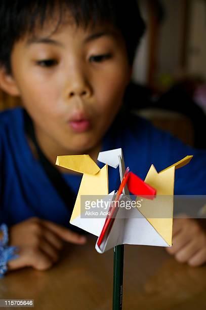 Origami merry go round