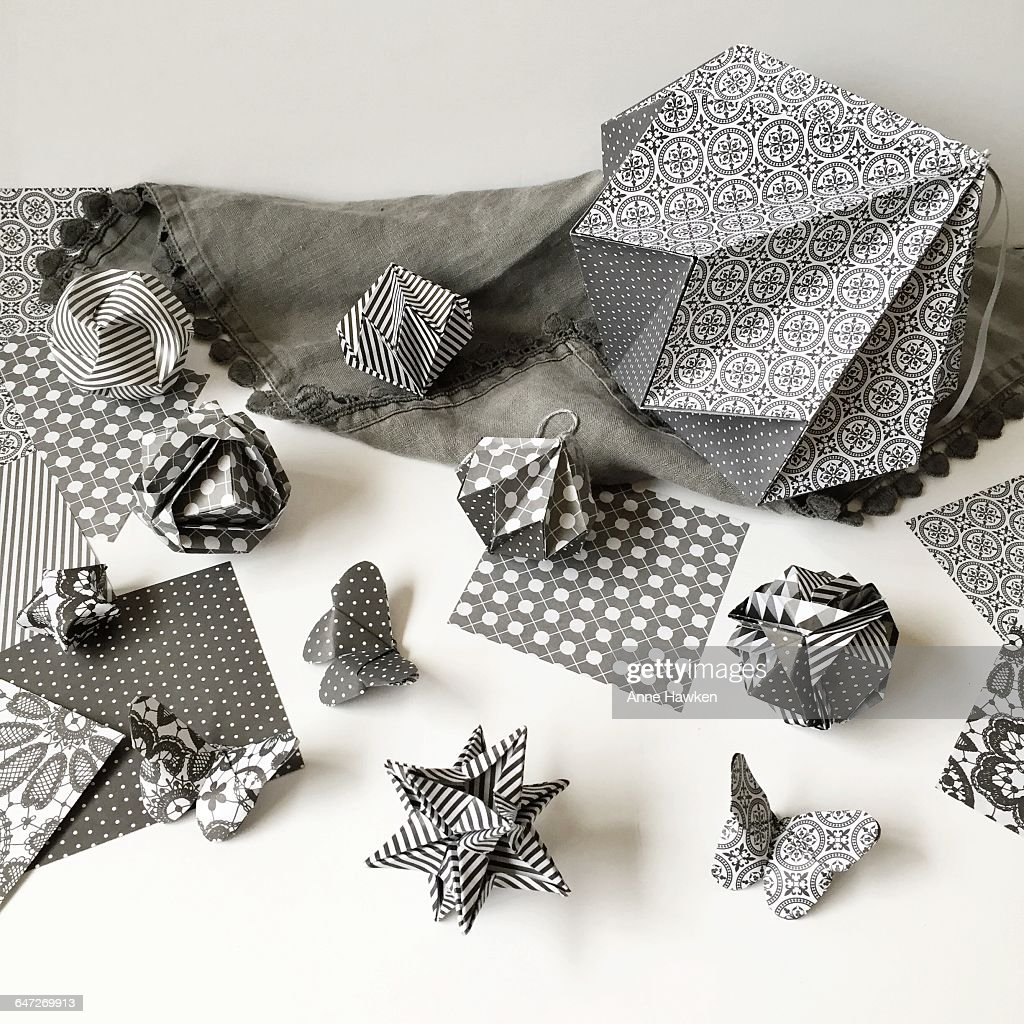 Origami objects stock photo getty images origami objects stock photo jeuxipadfo Choice Image