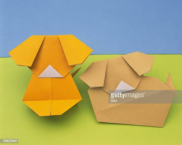 Origami Puppies, High Angle View