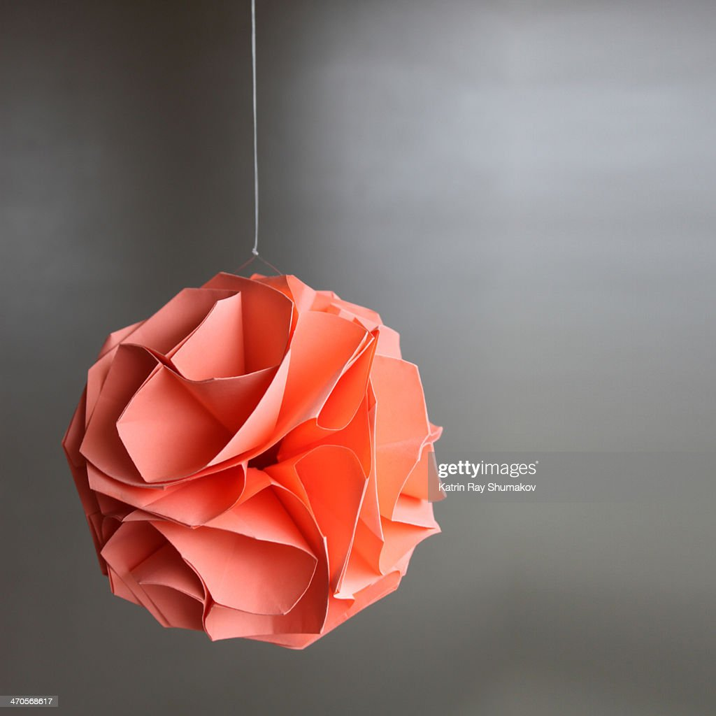 Origami Rose Sphere Stock Photo | Getty Images - photo#10