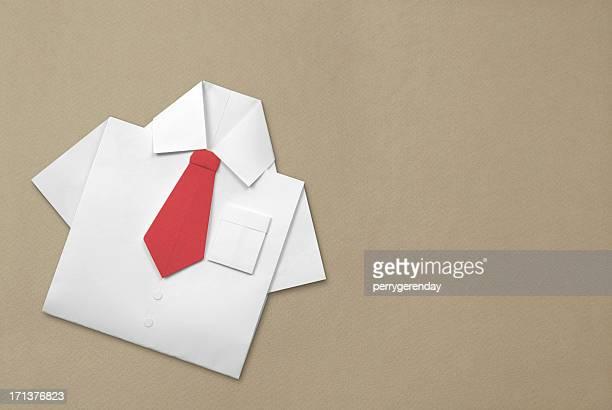 Origami camicia e cravatta