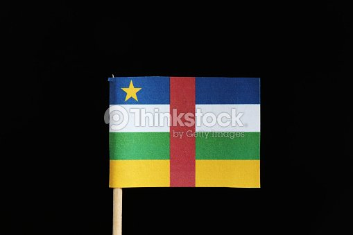 A Original And Official Flag Of Central African Republic On