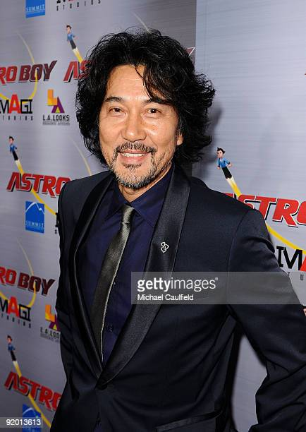 Original Astro Boy voice artist Koji Yakusho arrives at the Los Angeles Premiere of 'Astro Boy' held at Mann Chinese 6 on October 19 2009 in Los...