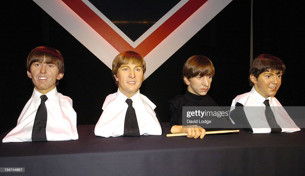 Original Beatles waxworks during Music Legends at Madame Tussauds - Photocall - October 20, 2005 at Madame Tussauds in London, Great Britain.