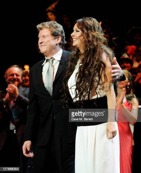 Original cast members Michael Crawford and Sarah Brightman bow on stage during the 25th Anniversary performance of Andrew Lloyd Webber's 'The Phantom...